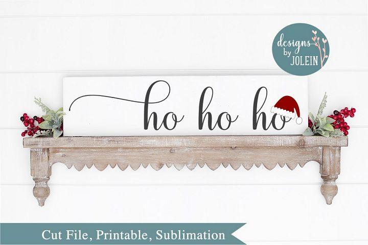 Ho Ho Ho SVG, png, eps, sublimation, DXF, Printable