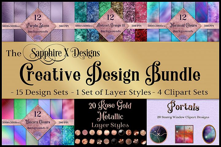 The Sapphire X Designs Creative Design Bundle - 20 Products