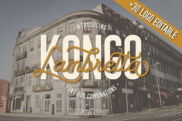Kongo Lambretta Font Duo