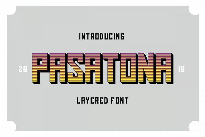 Pasatona | Layered Font