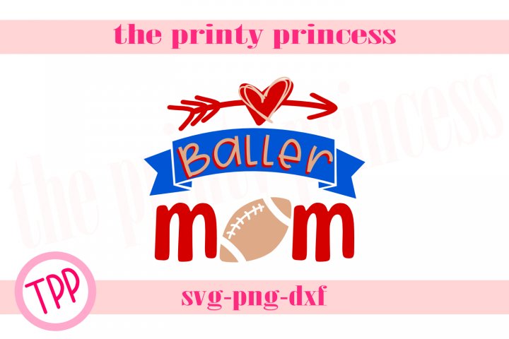 Soccer Baller Mom svg, Softball svg Soccer design