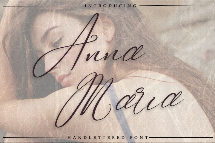 Anna Maria - Handlettered font