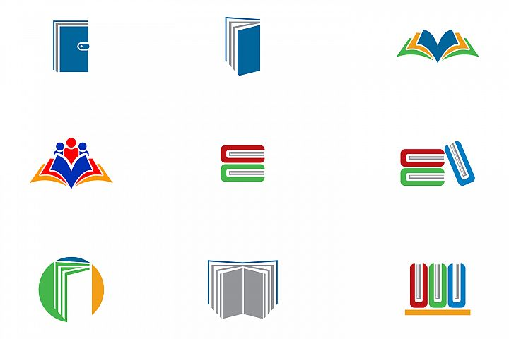 books logo collection