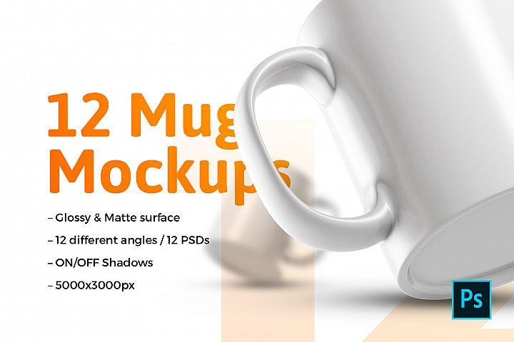 12x Mugs Mockups