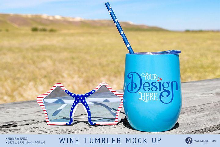 Wine Tumbler Mock up - Patriotic