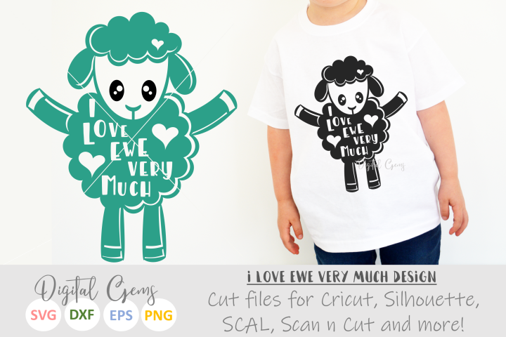 I love ewe, Sheep / Lamb design