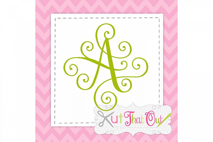 EXCLUSIVE Elegant Scroll Monogram Font SVG & DXF Cut File
