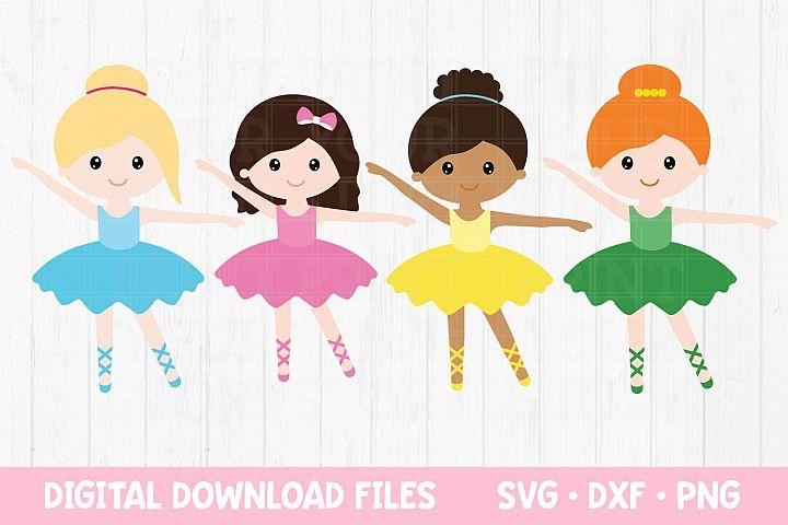 Ballerina SVG Bundle - Dancer Girls Clipart Ballet example image 1