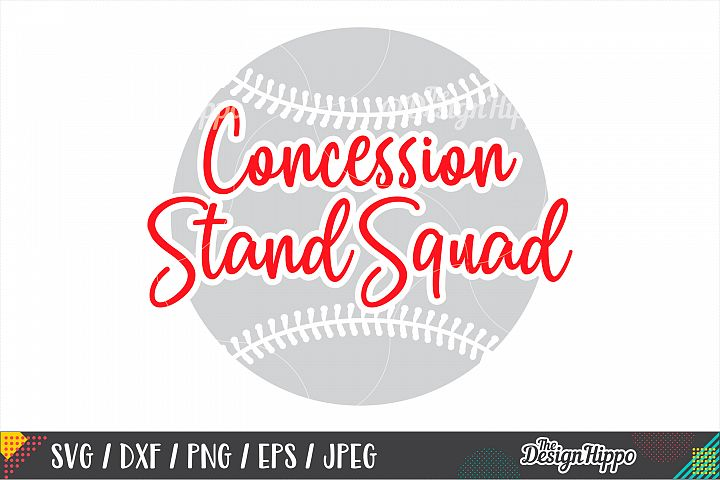 Baseball, Concession Stand Squad SVG DXF PNG EPS Cut Files