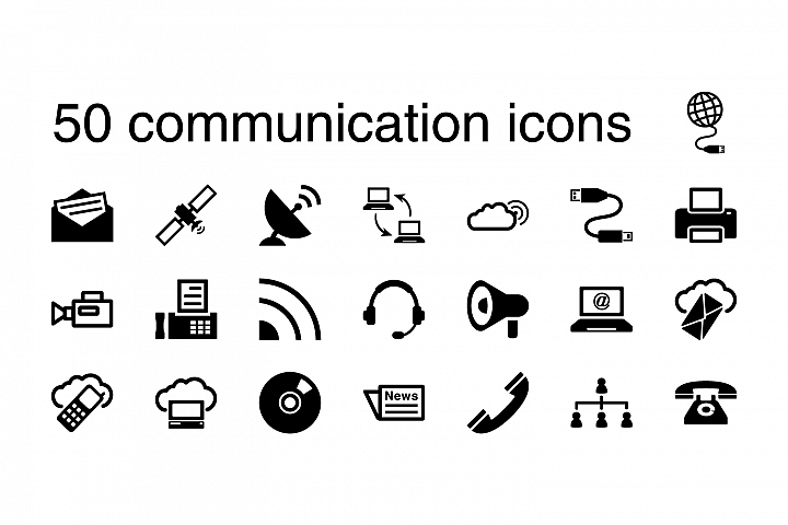 50 communication icons