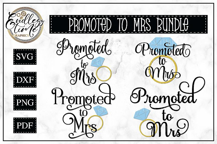 Promoted To Mrs SVG Cut File Bundle