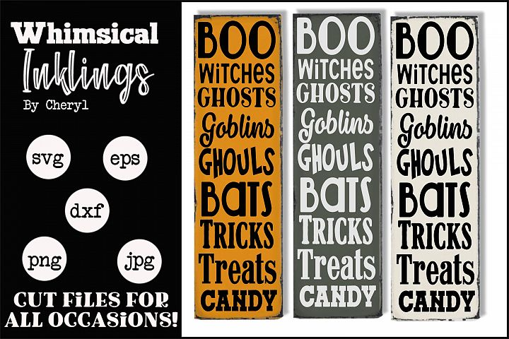 Trick Or Treat-Vertical Halloween SVG