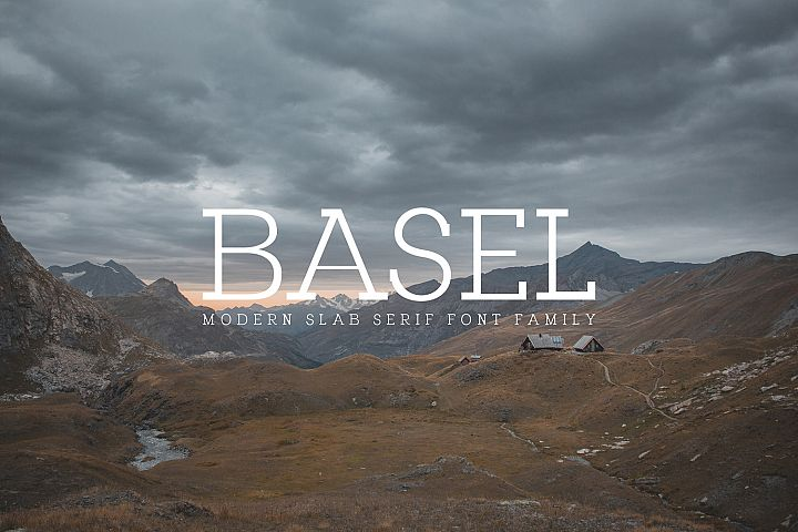 Basel Slab Serif Font Family
