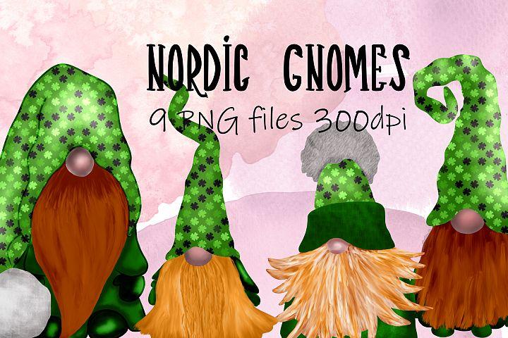 Scandinavian Tomte Gnomes - St patricks day edition