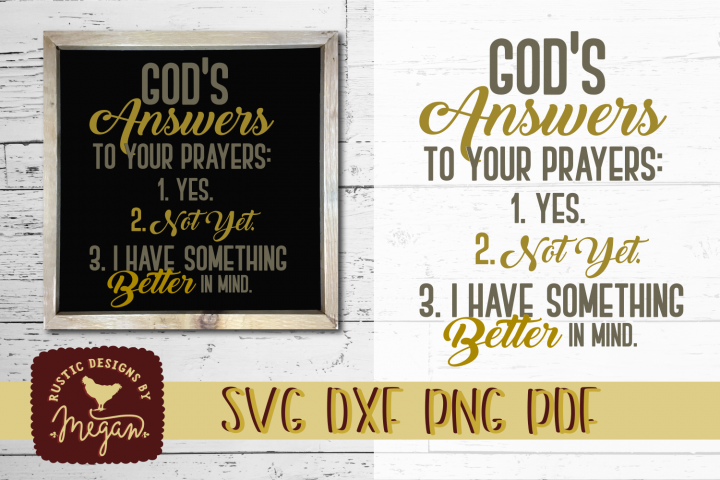 Gods Answer To Your Prayers Religious SVG DXF Cut File