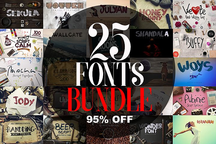 25 Fonts Bundle