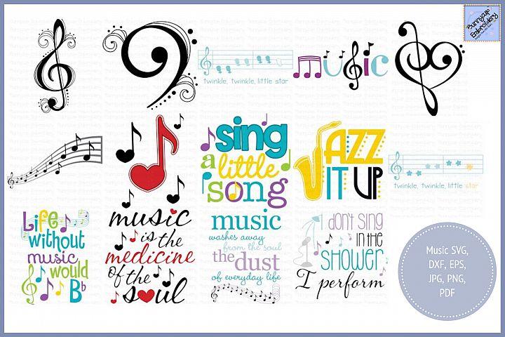 Music Bundle - SVG, Clipart, Printables