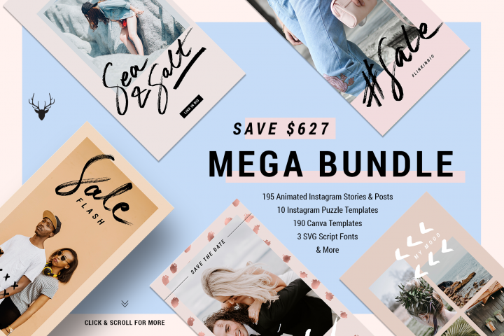 Mega Bundle - All 2018 Templates Now 95 OFF