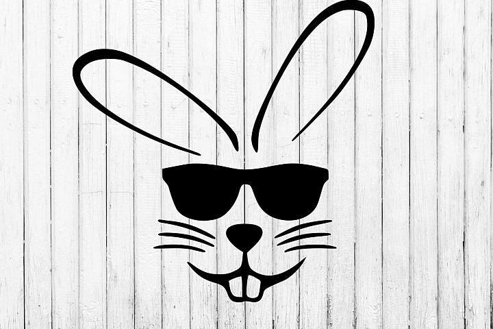 Easter bunny with sunglasses svg, clipart