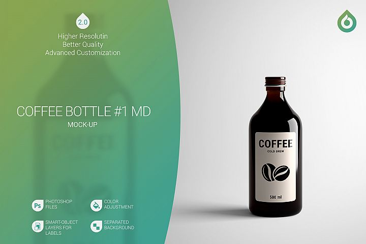 Coffee Bottle MD Mock-Up #1 V2.0