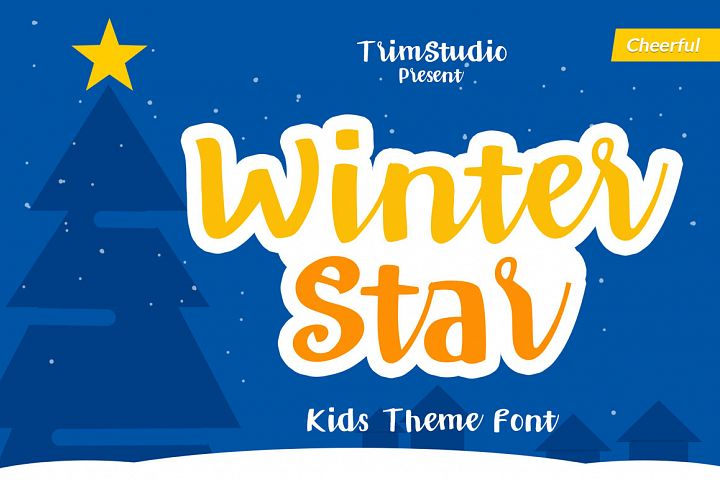 Winter Star - Playful Handwritten Font