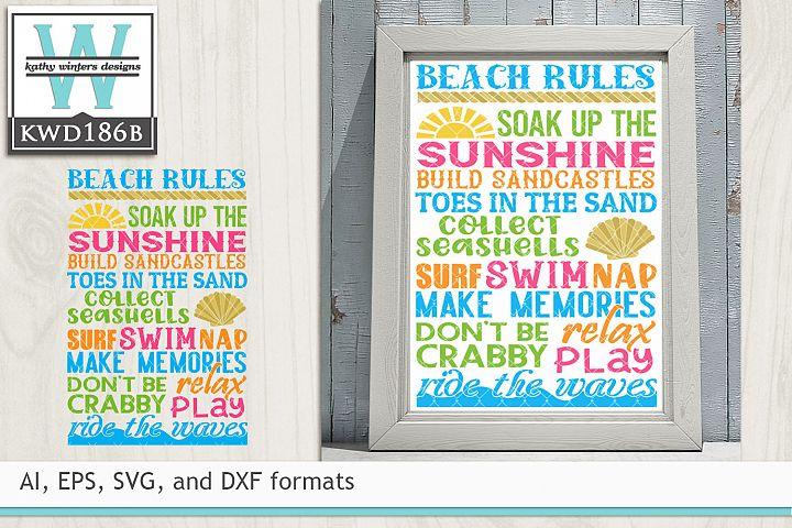 Beach SVG - Beach Rules