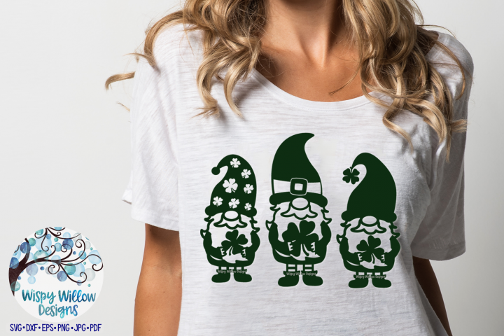 St. Patrick's Day Gnomes | Lucky Gnome SVG example image 2