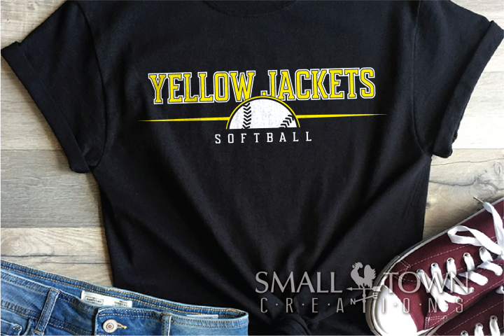 Yellow Jacket, Softball Logo, Sport, PRINT, CUT & DESIGN