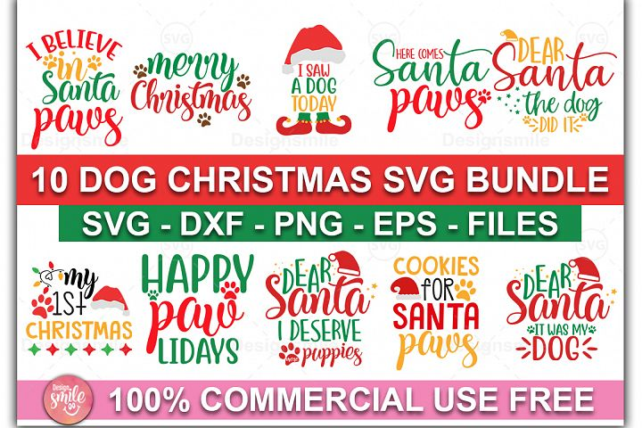 Christmas SVG| Dog Christmas SVG Bundle