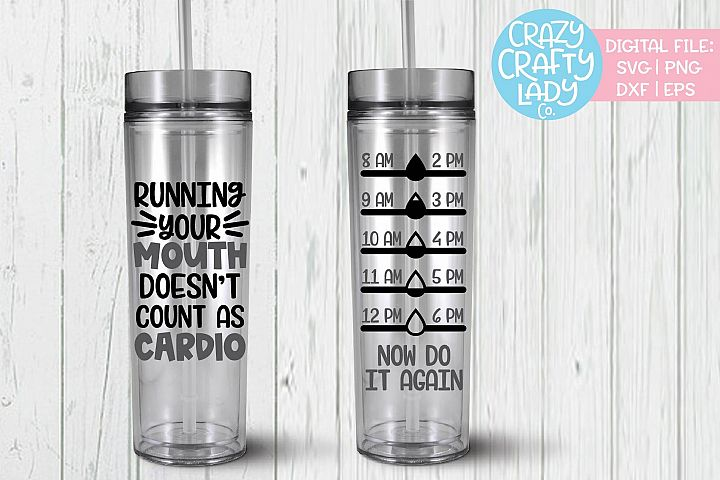 Running Your Mouth Bottle Tracker SVG DXF EPS PNG Cut File