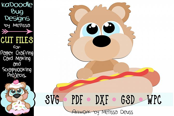 Hotdog Bear Cut File - SVG PDF DXF GSD WPC