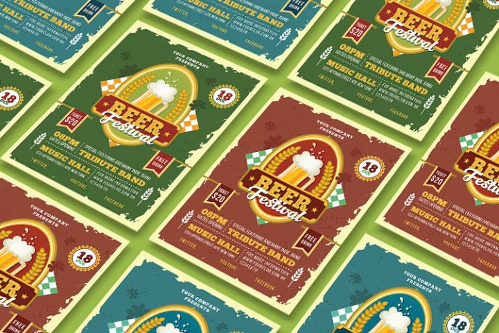 BEER FESTIVAL FLYER OR POSTER example image 4