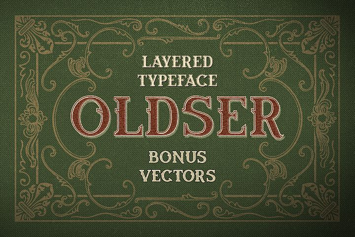 Oldser Typeface + Bonus Vectors