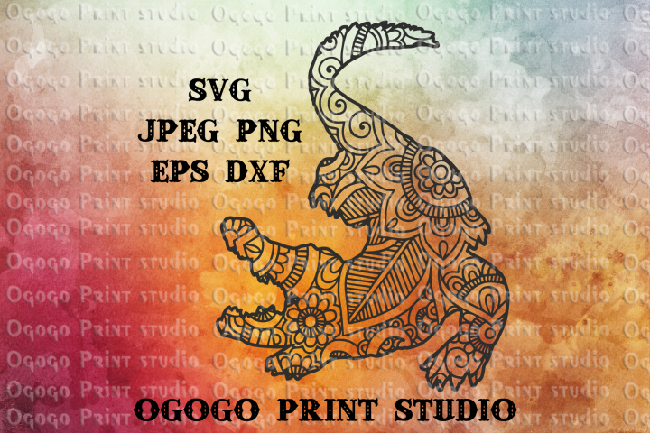 Alligator SVG, Zentangle SVG, Gator SVG, Mandala svg
