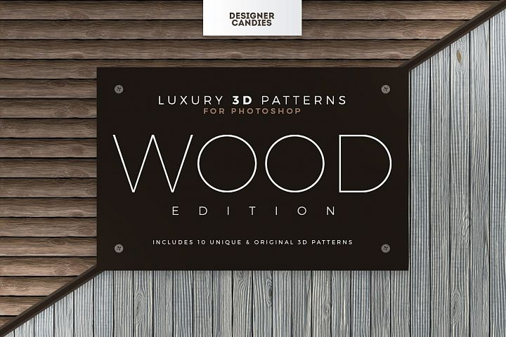 Seamless 3D Wood Patterns
