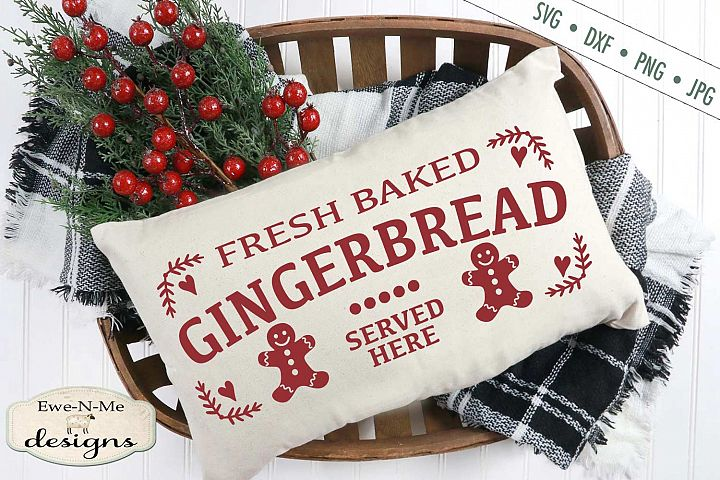 Fresh Baked Gingerbread - Christmas - SVG DXF Files