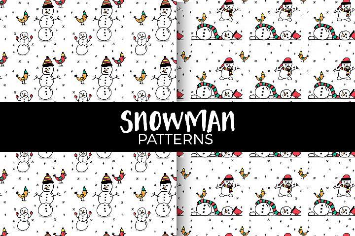 Snowman patterns