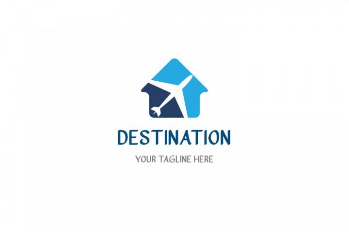 Travel Hut Shape Logo