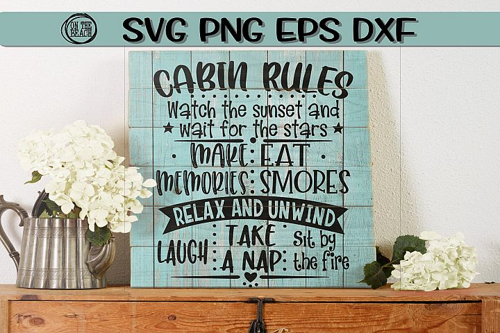 Camping Rules - Sign - Memories - SVG PNG EPS DXF