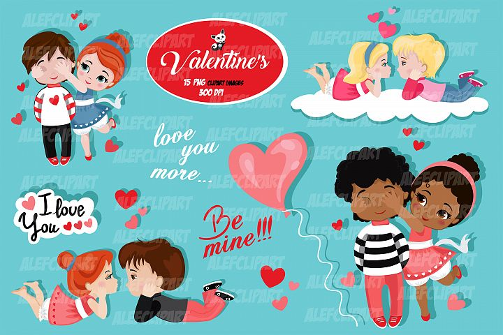 Valentine kids clipart 2, My Cute Valentine.