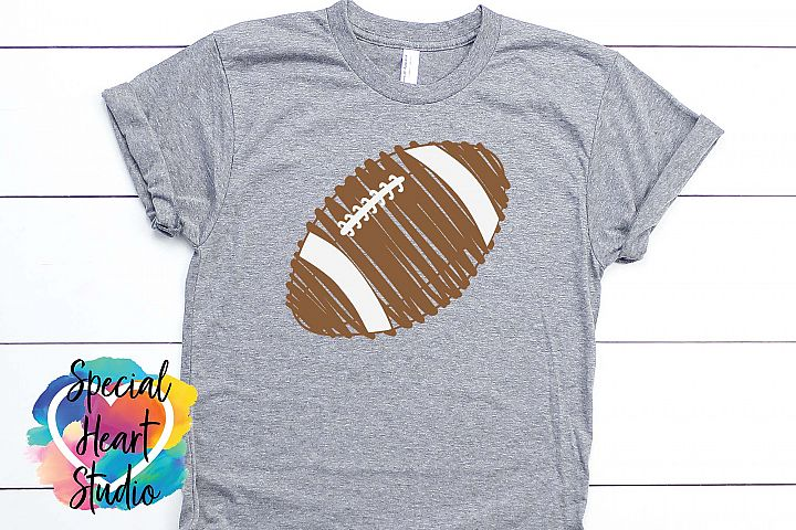 Scribble Football - A hand drawn fall football SVG Cut file