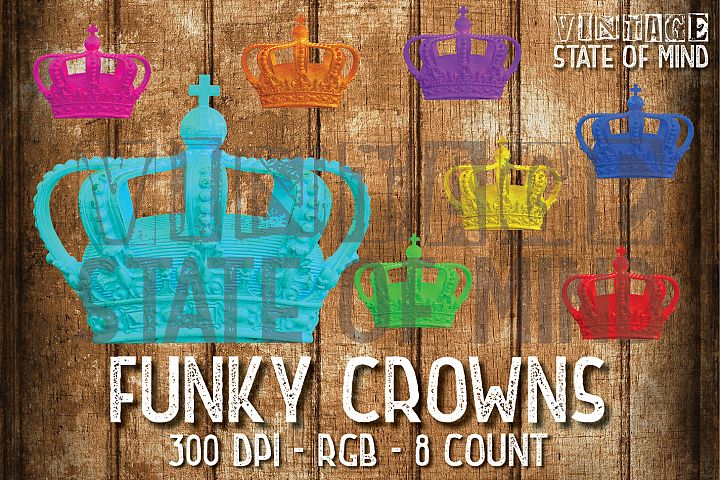 Funky Crown Sublimation Graphics