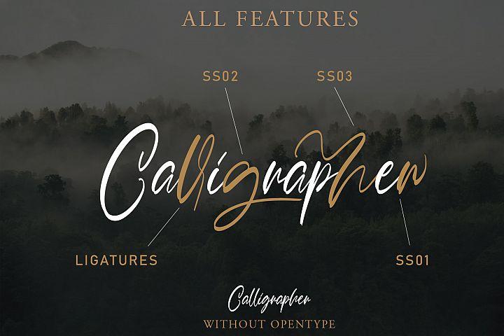 Calligrapher | Modern Script Font example image 3