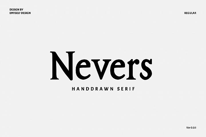 Nevers font