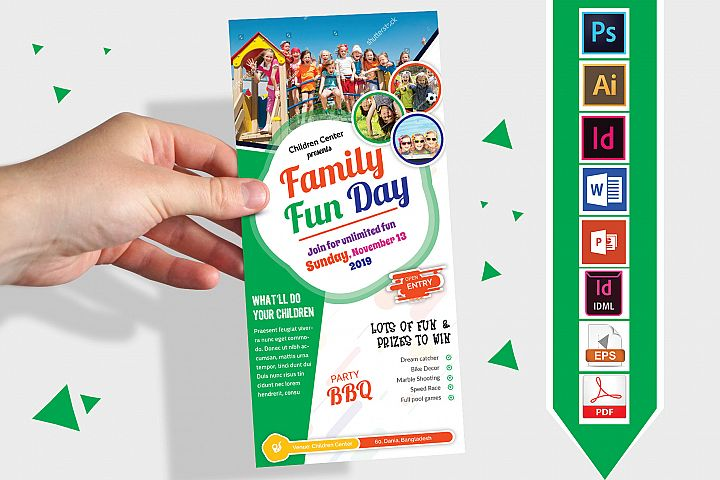 Rack Card | Family Fun Day DL Flyer Vol-03