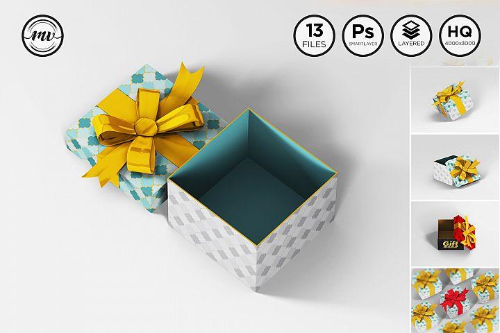 Gift Box Square Mockups