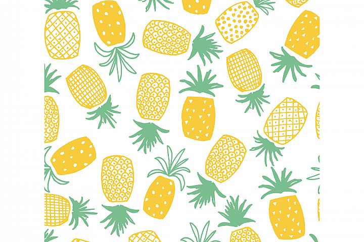 Pineapple Print Seamless Pattern