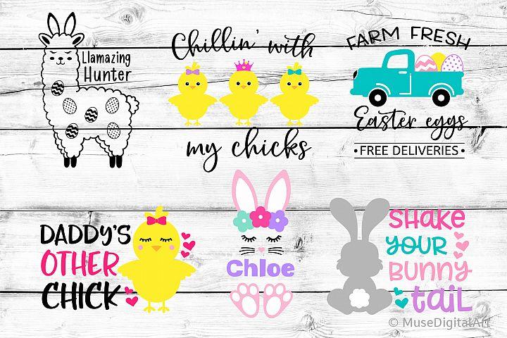 Easter Bundle Svg, Easter Svg Bundle, Girl Easter Cute Svg