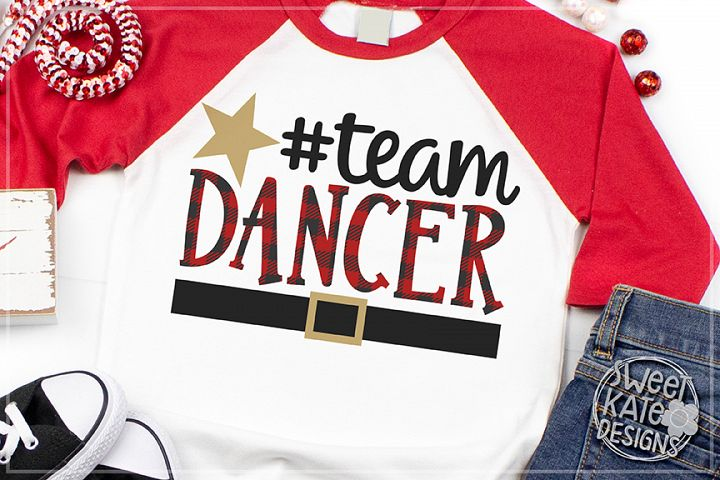 Team Dancer Buffalo Plaid SVG DXF EPS PNG JPG