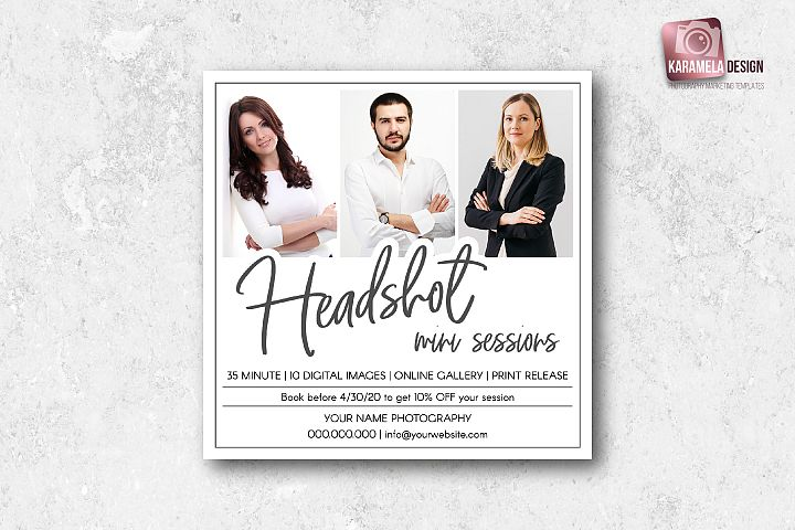 Headshot Mini Session Template